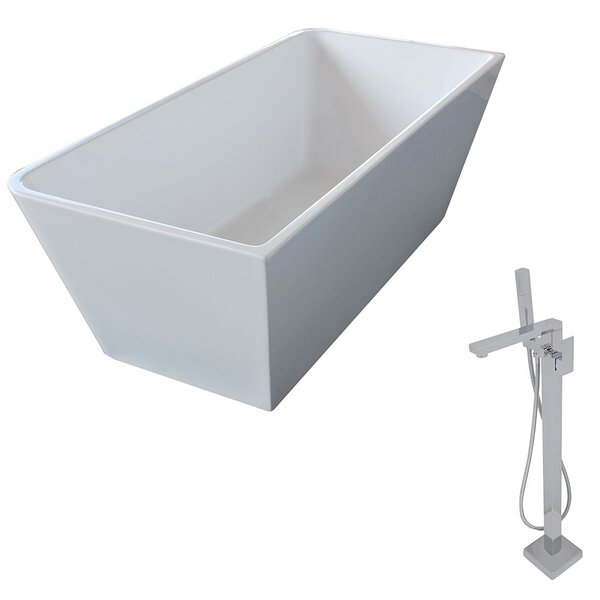 Majanel 67 x 31.4 Freestanding Soaking Bathtub by ANZZI