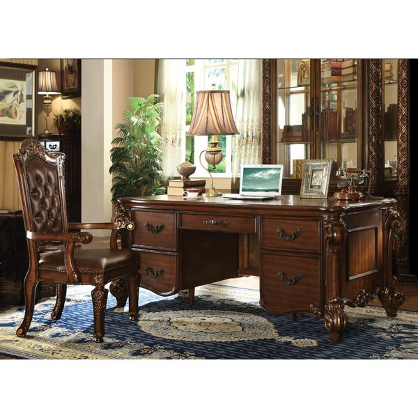 Malley Executive Desk Set with Hutch by Astoria Grand