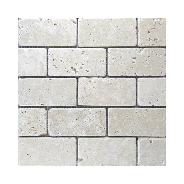 Tumbled 2 x 4 Natural Stone Mosaic Tile in Gray by QDI Surfaces