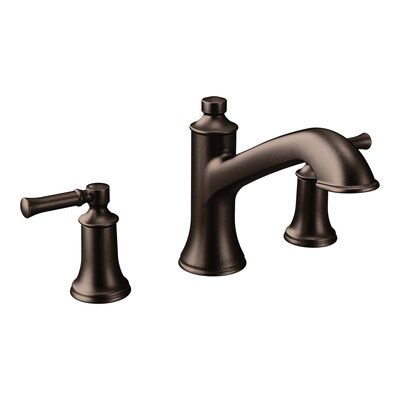 Moen Tub Faucet Deck Mount Double Handle Oil Rubbed Bronze Faucets