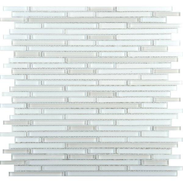 Infinity Random Sized Glass Mosaic Tile in White by Emser Tile