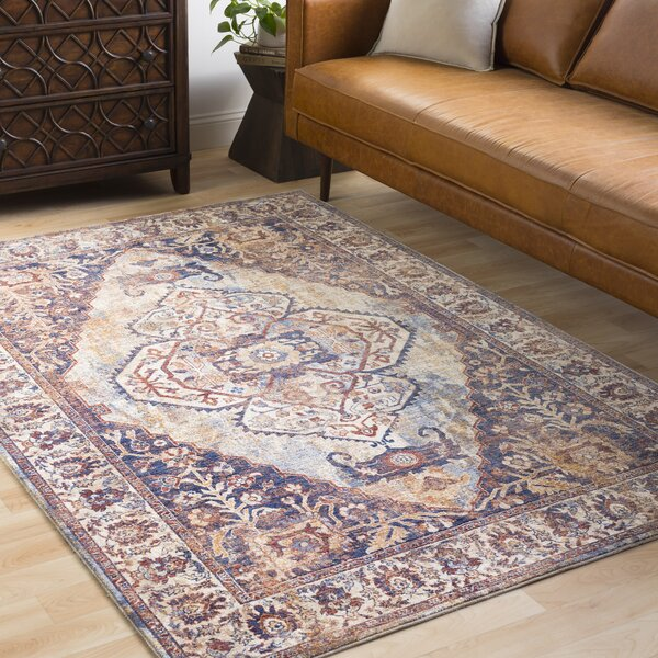 Jenessa Traditional Denim/Navy Area Rug by Darby Home Co