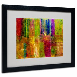Color Abstract by Michelle Calkins Framed Painting Print by Trademark Fine Art