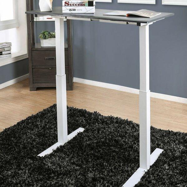 Indira Minimalist Metallic Height Adjustable Standing Desk by Symple Stuff