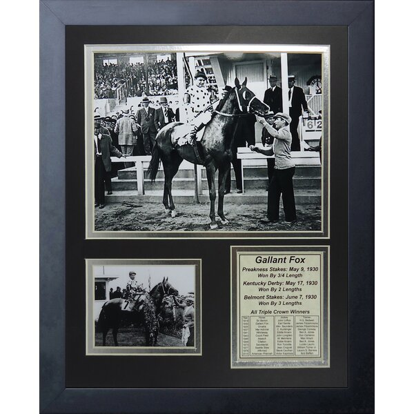 Gallant Fox 1930 Triple Crown Winner Framed Memorabilia by Legends Never Die