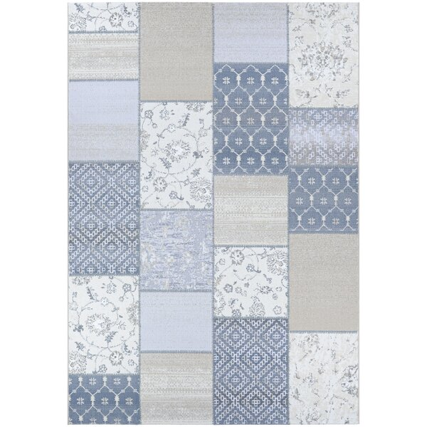 Feltman Patchwork Oyster/Pearl Area Rug by August Grove