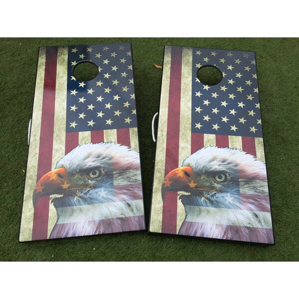 American Flag 10 Piece Cornhole Set by West Georgia Cornhole