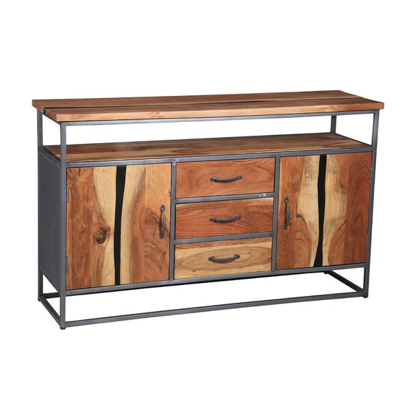 Hipple Acacia Wood Buffet Table by Union Rustic