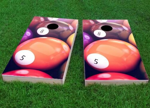 Billiards Cornhole Game (Set of 2) by Custom Cornhole Boards