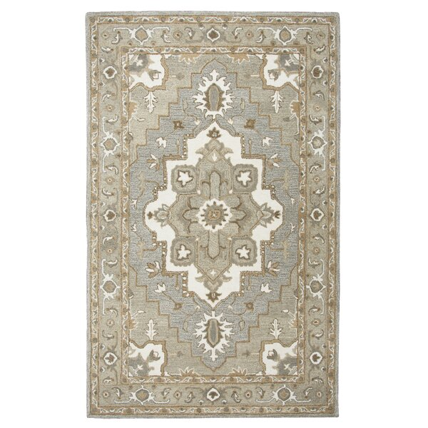 Byron Hand-Tufted Gray Area Rug by Astoria Grand