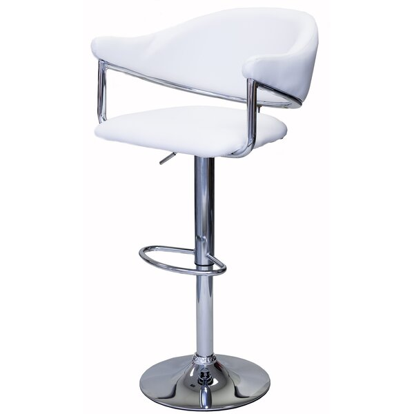 Poulsen Adjustable Height Swivel Bar Stool (Set of 2) by Brayden Studio
