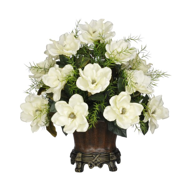 Artificial Magnolia with Asparagus Fern by House of Silk Flowers Inc.