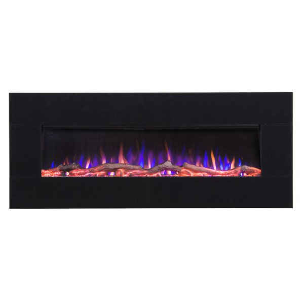 Cardy Recessed Wall Mounted Electric Fireplace by Latitude Run