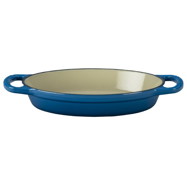 Enameled Cast Iron Oval Signature Baker by Le Creu