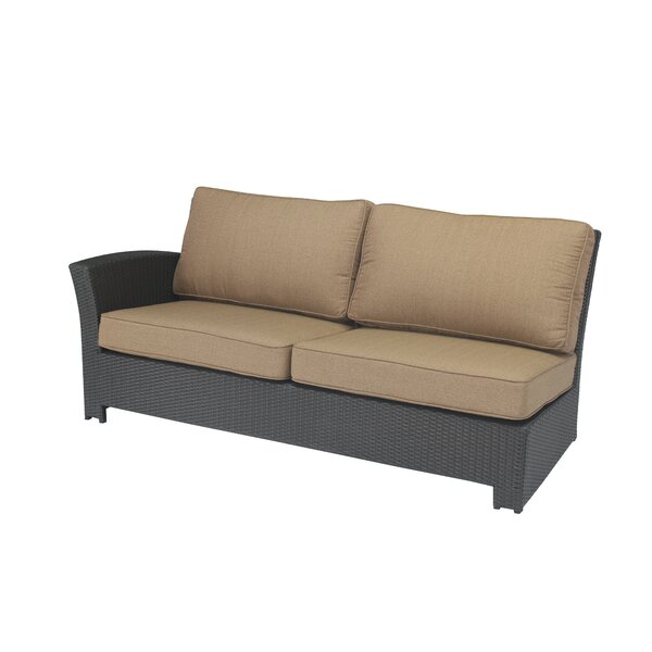 Kissling Wicker Left Arm Loveseat with Cushions by Alcott Hill