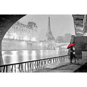 'Eiffel Tower Kiss' Graphic Art Print Poster by Latitude Run
