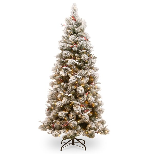 Slim 90 Green Pine Artificial Christmas Tree with 500 Clear Lights with Stand by Darby Home Co