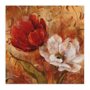 'Flower Duet II' Painting Print on Wrapped Canvas by Fleur De Lis Living