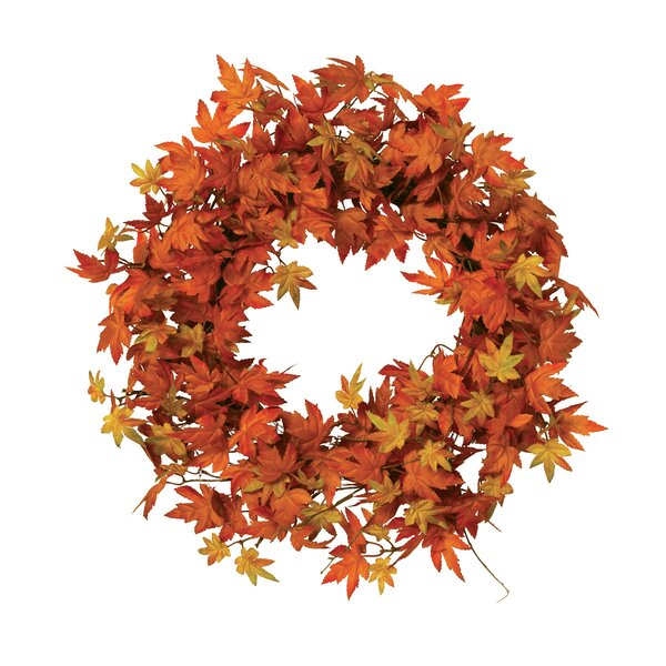 Maple Leaf 24 Fabric Wreath by The Holiday Aisle