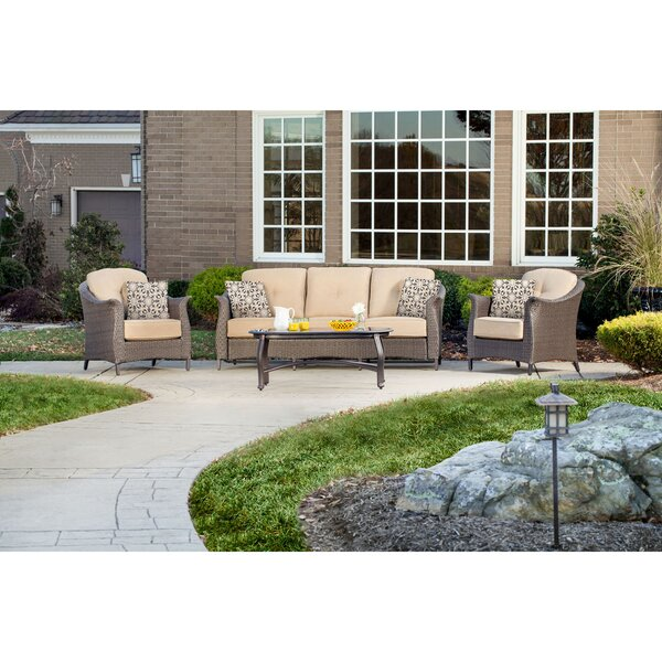 Daigle 4 Piece Sofa Set with Cushions by Darby Home Co