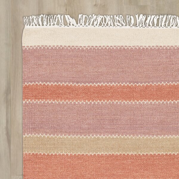 Buckhead Hand-Tufted Rust/Mauve Area Rug by Bungalow Rose