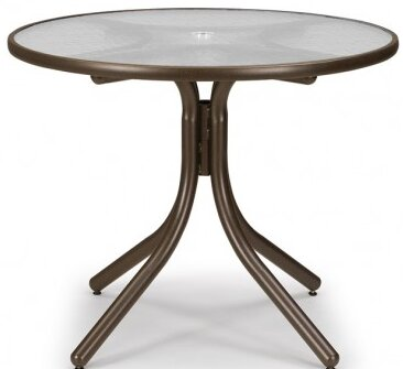 Obscure Acrylic 36 Round Dining Table by Telescope Casual