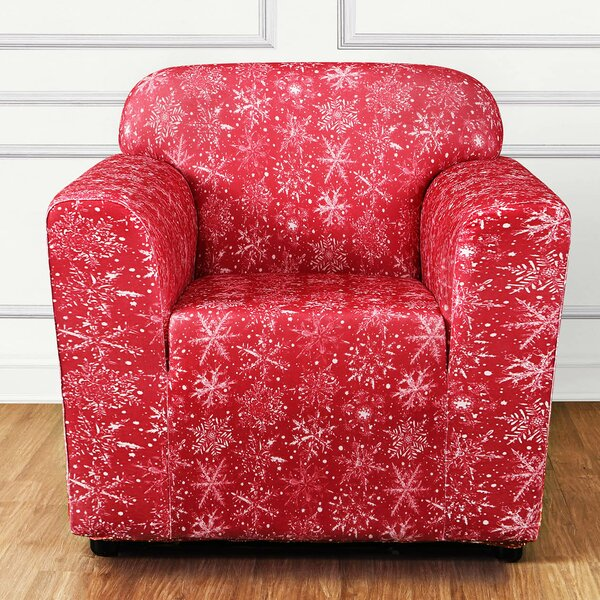 Stretch Snowflake Box Cushion Armchair Slipcover by Sure Fit