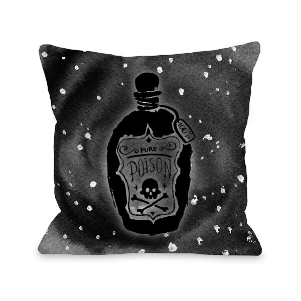 Pure Poison Hole Throw Pillow by The Holiday Aisle