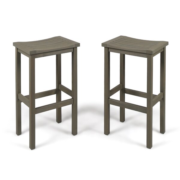 Bushnell 30 Patio Bar Stool (Set of 2) by Bay Isle Home