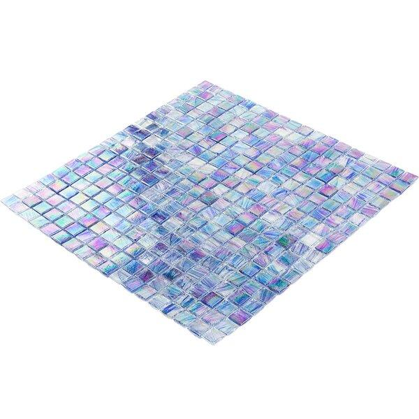 Breeze 0.62 x 0.62 Glass Mosaic Tile in Blue by Splashback Tile