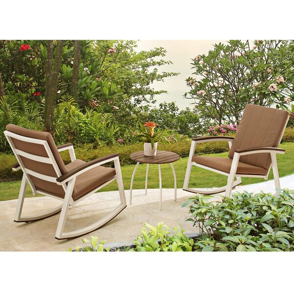 Ormes 3 Piece Conversation Set with Cushions by Wrought Studio