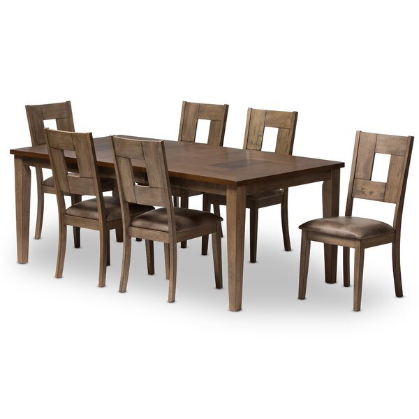 Polak 7 Piece Dining Set by Bloomsbury Market