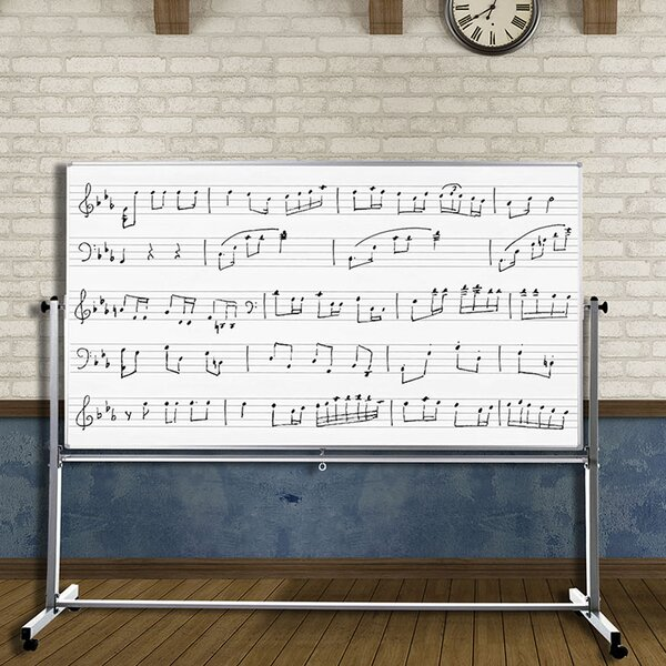 Mobile Magnetic Music Whiteboard, 72 x 48 by Offex
