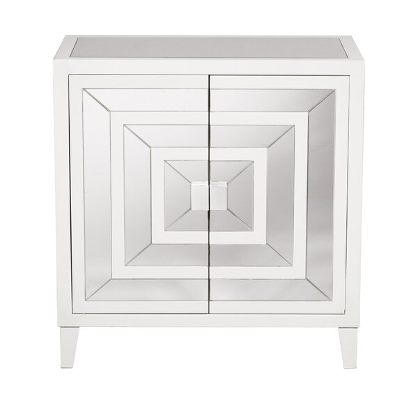 Square Mirror Overlay 2 Door Accent Cabinet by Willa Arlo Interiors Willa Arlo Interiors