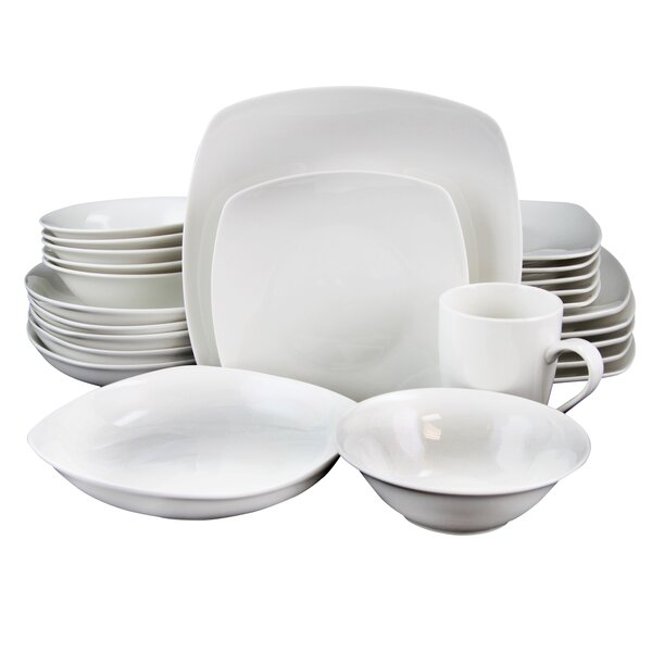 Natrona Square 30 Piece Dinnerware Set, Service for 6 by Charlton Home