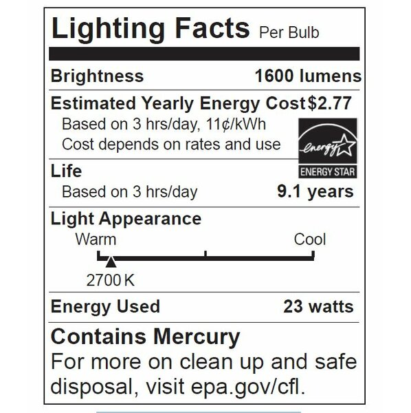 23W 120-Volt (2700K) Fluorescent Light Bulb (Set of 2) by Energetic Lighting