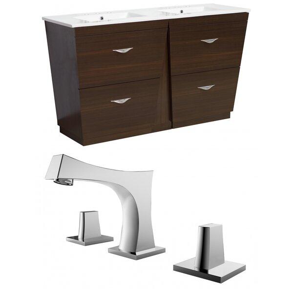 Kao Modern Floor Mount 48 Single Bathroom Vanity Set by Royal Purple Bath Kitchen
