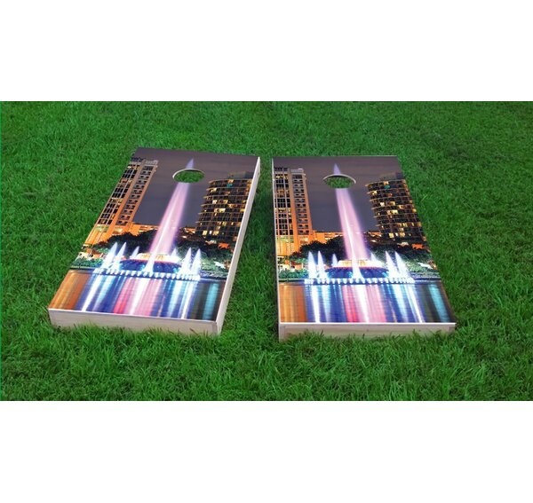 Orlando Lake Eola Fountain Cornhole Game Set by Custom Cornhole Boards