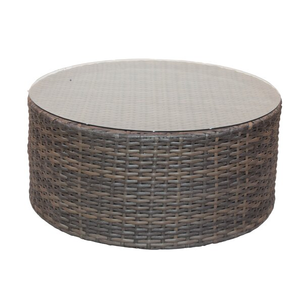 Cribbs Rattan Coffee Table by Highland Dunes