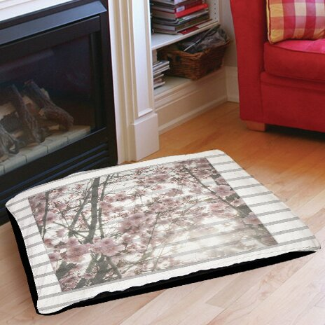 Cherry Blossom Stripes Indoor/Outdoor Pet Bed by Manual Woodworkers & Weavers