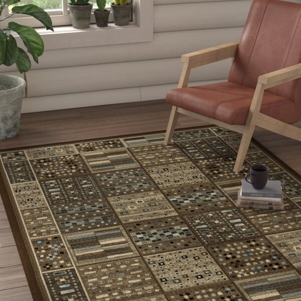 Bryzel Chocolate/Ivory/Gray Area Rug by Loon Peak