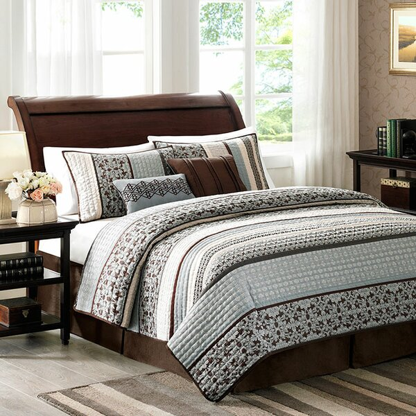 Hanley 5 Piece Reversible Coverlet Set by Alcott H
