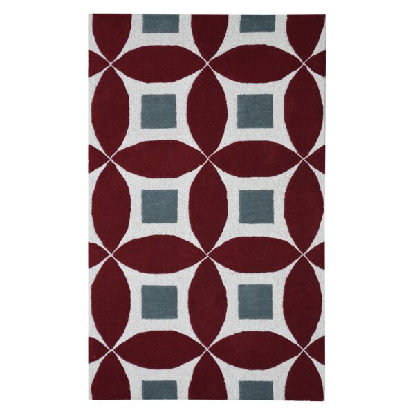 Henley Hand-Tufted Burgundy/Gray Area Rug by Eastern Weavers