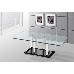 Alise Glass Top Coffee Table Orren Ellis