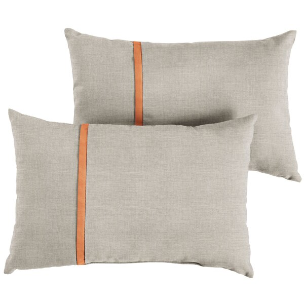 Chumbley Indoor/Outdoor Lumbar Pillow (Set of 2) by Corrigan Studio
