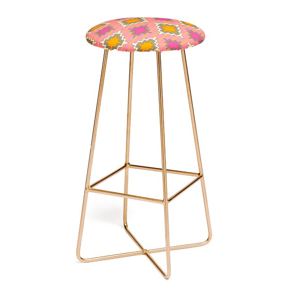 Sharon Turner Tangerine Kilim 30 Bar Stool by East Urban Home