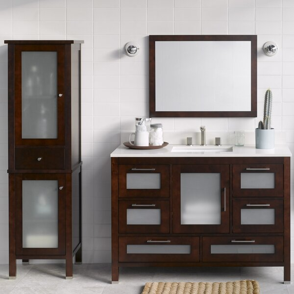 Athena 48 Single Bathroom Vanity Set with Mirror by Ronbow