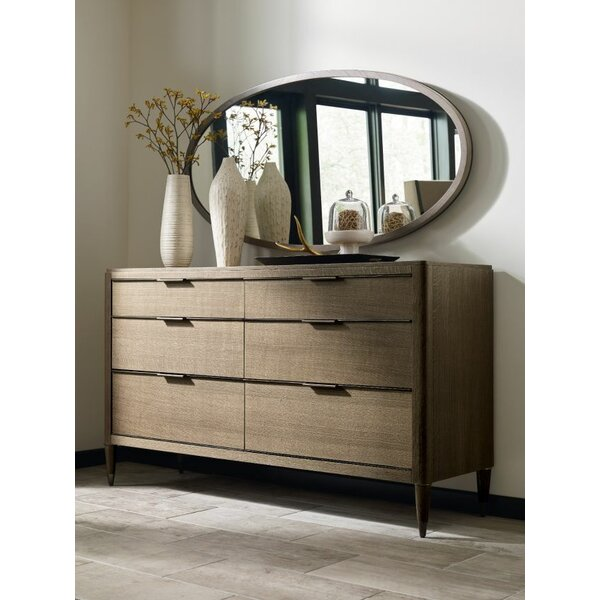 Hamden 6 Drawer Double Dresser with Mirror by American Drew
