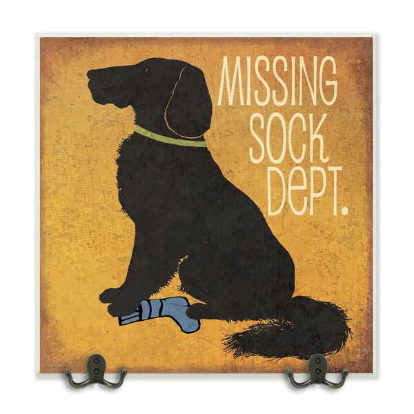 Missing Sock Dept. and Dog Graphic Wall Plaque by Stupell Industries