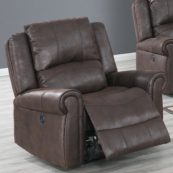 Avia Faux Leather Power Recliner W002399007